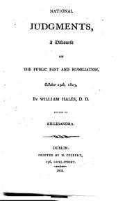 National Judgments: A Discourse on the Public Fast and Humiliation, October 19th, 1803