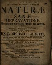 De naturae sanae depravatione