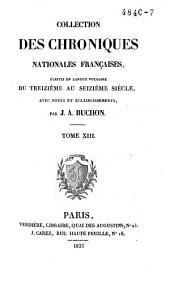 Chroniques de Froissart: Volume13