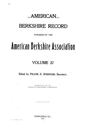American Berkshire Record