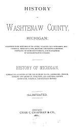 History of Washtenaw County, Michigan