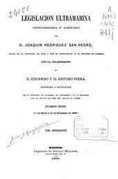Legislación ultramarina: (683, XI p.)