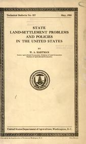 State land-settlement problems and policies in the United States: Volumes 351-375