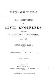 Minutes of Proceedings of the Institution of Civil Engineers: Volume 51