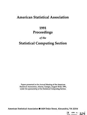 Proceedings of the Statistical Computing Section PDF