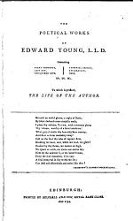 The Works of the British Poets: The poetical works of Edward Young, L.L.D