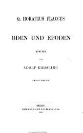 Q. Horatius Flaccus: t. Oden und epoden