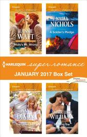 Harlequin Superromance January 2017 Box Set: Molly's Mr. Wrong\The Other Twin\A Soldier's Pledge\Wooing the Wedding Planner