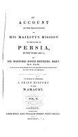 An Account of the Transactions of His Majesty s Mission to the Court of Persia PDF
