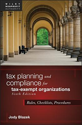 Tax Planning and Compliance for Tax Exempt Organizations PDF