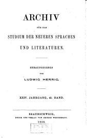 Archiv für das Studium der neueren Sprachen und Literaturen: Bände 45-46