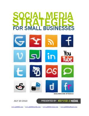 Social Media Strategies For Small Businesses PDF