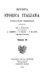Rivista storica italiana: Volume 11