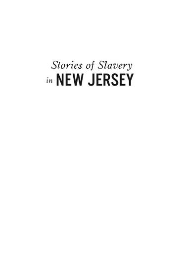 Stories of Slavery in New Jersey PDF