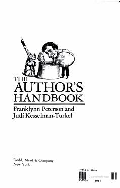 The Author s Handbook PDF