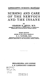 Nursing and care of the nervous and the insane
