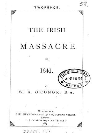 The Irish Massacre of 1641 PDF