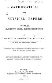 Mathematical and Physical Papers: 1841-1890