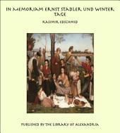 In Memoriam Ernst Stadler und Winter Tage