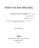Chronicles of the Ancient British Church  Previous to the Arrival of St  Augustine PDF