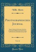 Photographisches Journal Vol 14
