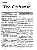 The Craftsman, a constitutional and industrial review