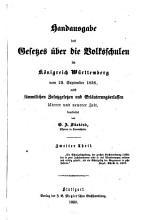 Handausgabe des Gesetzes   ber die Volksschulen im K  nigreich W  rttemberg vom 29  September 1836 PDF