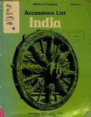 Accessions List  India PDF