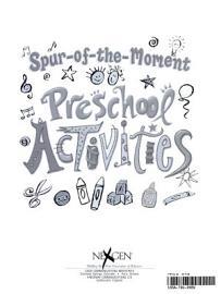 Spur Of The Moment Preschool Activities