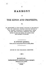 A Harmony Of The Kings And Prophets Book PDF
