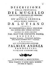 Historiae urbium et regionum Italiae rariores: Volume 59