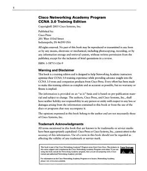 Cisco Networking Academy Program CCNA 3  0 Training Edition PDF