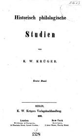 Historisch philologsiche Studien: Band 1