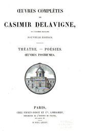 Oeuvres complètes de Casimir Delavigne, de l'académie Française
