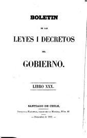 Boletín de las leyes i decretos del Gobierno: Volumen 30