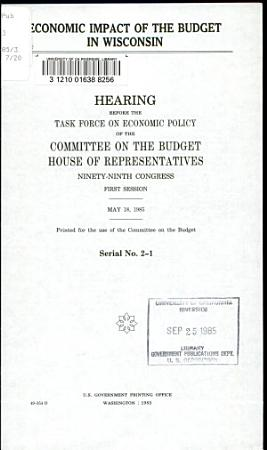 Economic Impact of the Budget in Wisconsin PDF