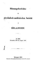 Sitzungsberichte der Physikalisch-medicinischen Societät in Erlangen: Band 12