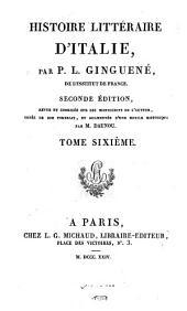 Histoire littéraire d'Italie,