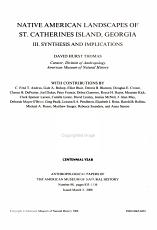 Native American Landscapes of St  Catherines Island  Georgia PDF