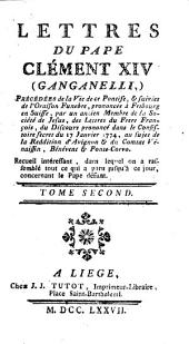 Lettres intéressantes du pape Clément XIV (Ganganelli)