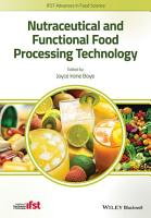 Nutraceutical and Functional Food Processing Technology PDF