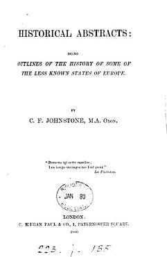Historical abstracts  some of the less known states of Europe PDF