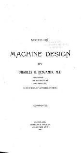 Notes on Machine Design