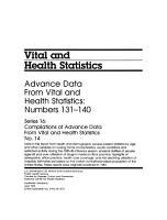 Vital and Health Statistics PDF