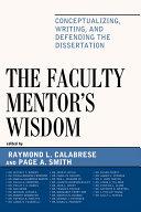 The Faculty Mentor's Wisdom