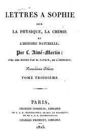 Lettres a Sophie: sur la physique, la chimie et l'histoire naturelle, Volume3