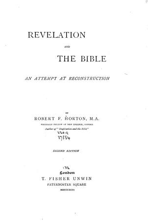 Revelation and the Bible PDF