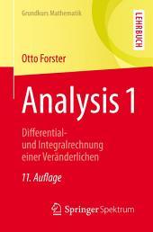 Analysis 1: Differential- und Integralrechnung einer Veränderlichen, Ausgabe 11