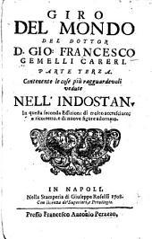 Giro del mondo del dottor D. Gio. Francesco Gemelli Careri: Volume 3