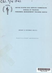 Workshop in Performance Analysis  Participant Workbook PDF